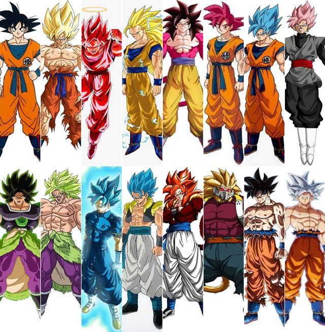 Comicrítico Las 30 Transformaciones De Goku Y Los Saiyans Vegeta Broly Son Gohan