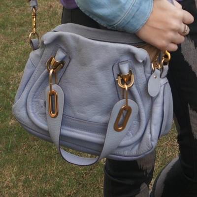 Chloe periwinkle small Paraty worn on shoulder   awayfromtheblue