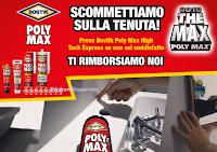 Logo Poly Max ''Scommettiamo sulla tenuta'' : soddisfatti o rimborsati ! Come richiedere il rimborso