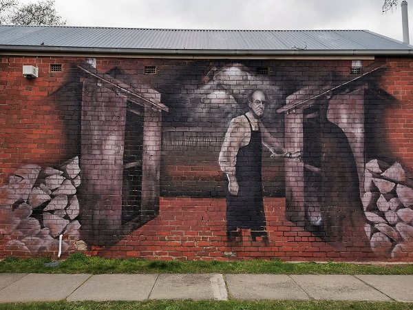 Albury Street Art | Butts Gourmet Smoke House mural by Kade Sarte