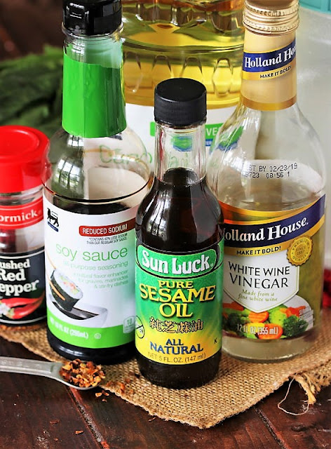 Asian Sesame Dressing Ingredients Image
