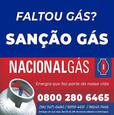 Sanção Gás, revendedor Nacional Gás; Entrega imediata (Água e Gás)