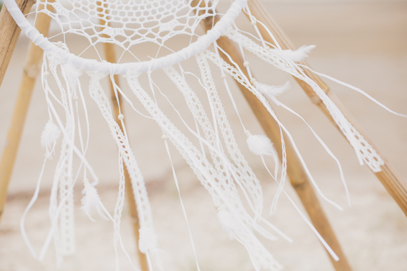 white lace dream catcher for wedding