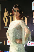 Sonal Chauhan in a stonework Floor Length Silver Designer Gown at IIFA Utsavam Awards March 2017 016.JPG