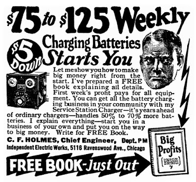 $75 to $125 weekly charging batteries