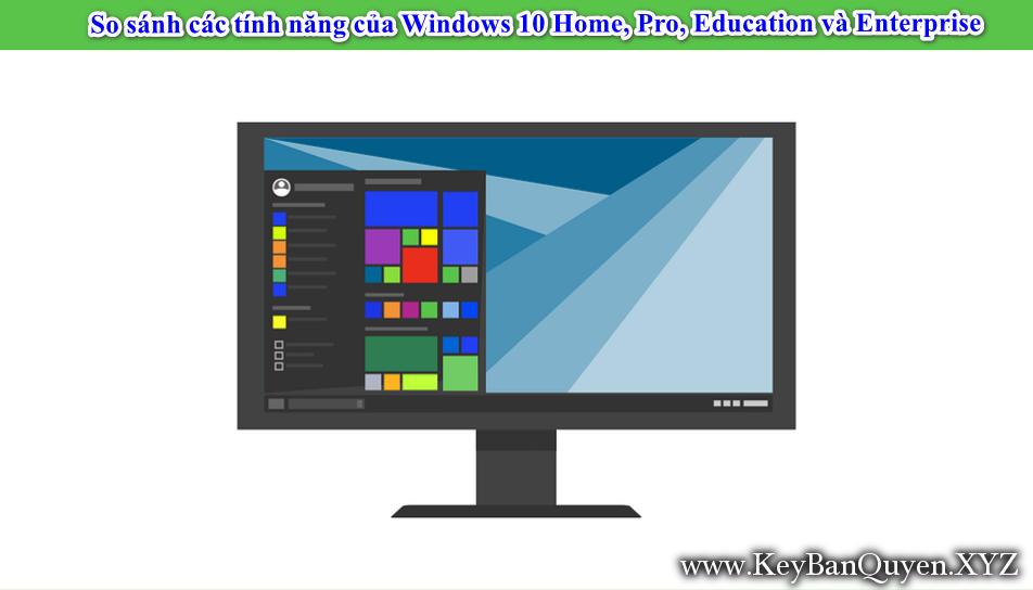 Bảng so sánh các tính năng của Windows 10 Home, Pro, Education và Enterprise