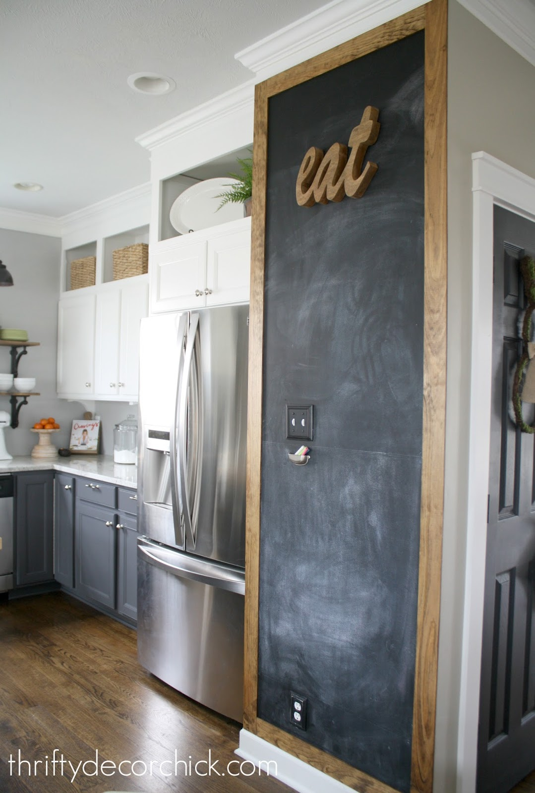 Adding some rustic charm to the kitchen from Thrifty Decor