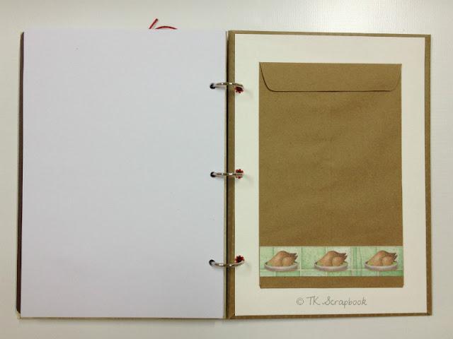caderno de receitas em scrapbook