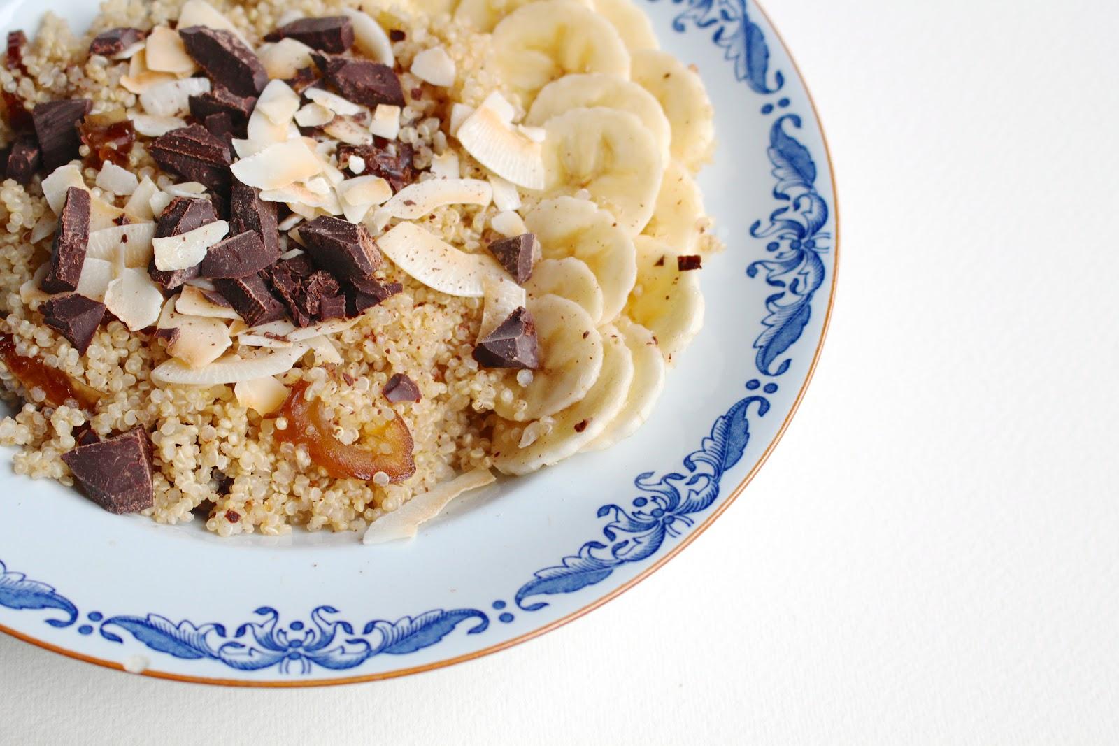 Coco-choco-banana quinoa porridge Federal Cafe