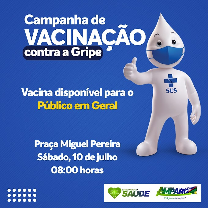 Secretaria de Saúde de Amparo convoca população para dia D de vacinação contra a Gripe