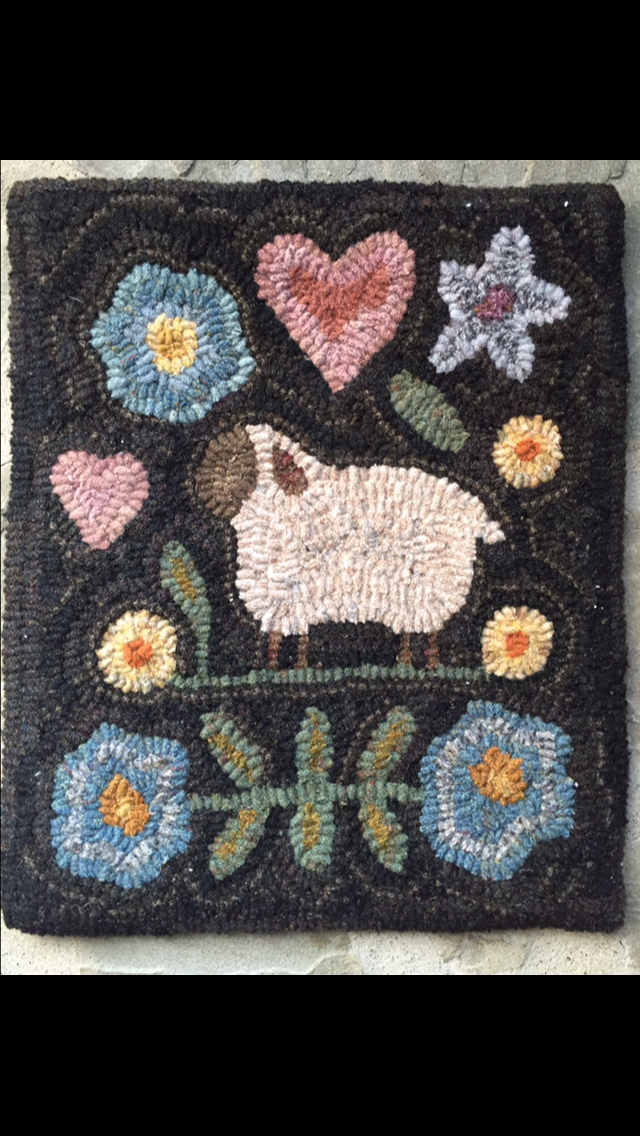 SHEEP AND FLOWERS