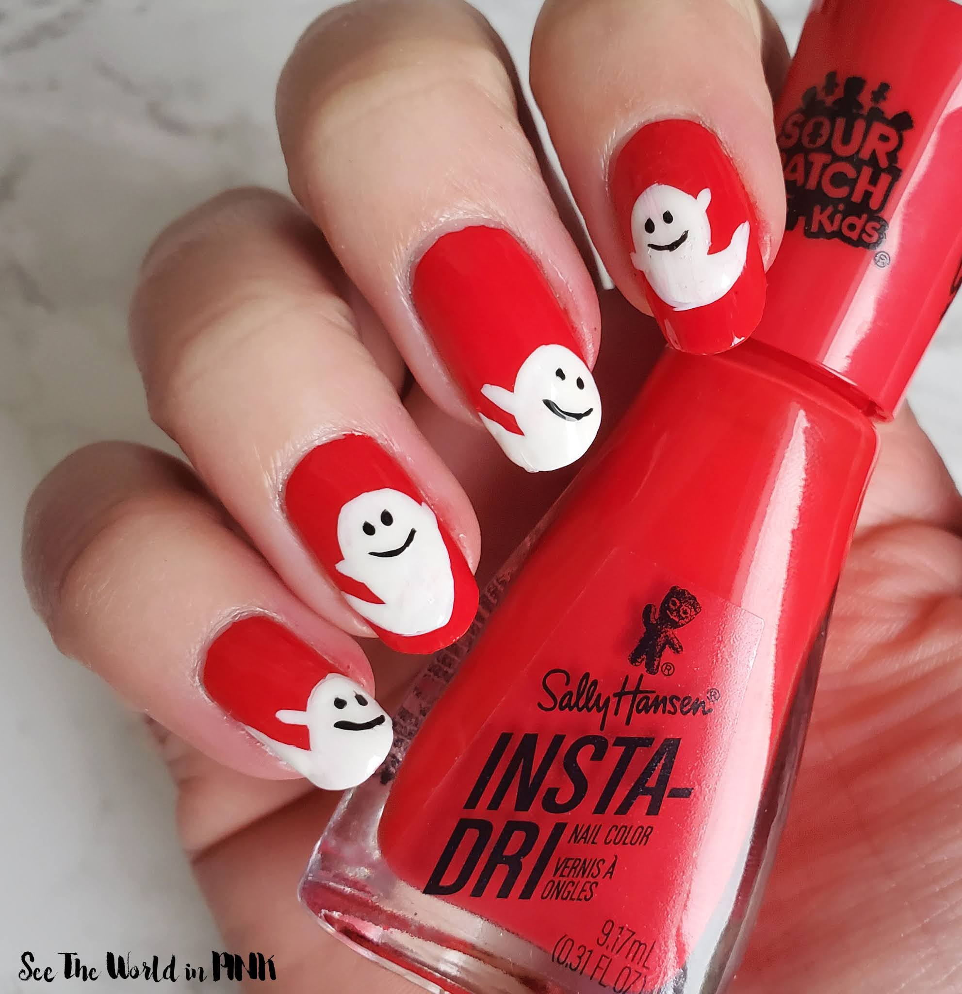 Manicure Monday - Ghost Nails!