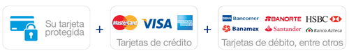 Compra segura con Tarjetas de Crédito y Débito con PayPal