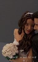 statuetta sposa con bouquet statuine per torta nuziale realizzate a mano orme magiche