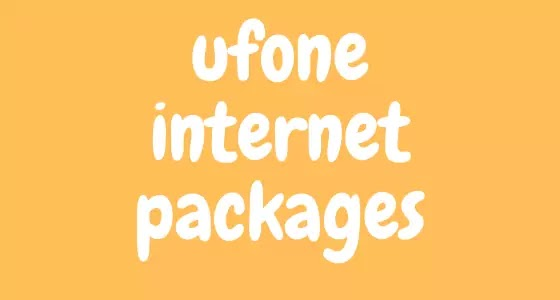 Ufone Internet Packages: Hourly, Daily, Weekly & Monthly | NEWSWONHY