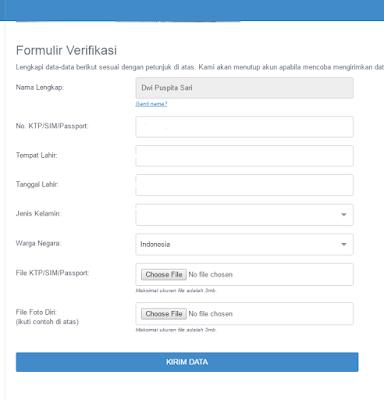 lengkapi formulir verifikasi
