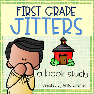 Do your students have jitters about starting school? This book study is filled with companion activities to go with the book First Grade Jitters by Robert Quackenbush. Students will explore text-to-self connections that will help them ease their fears about beginning a new grade! Lots of fun literacy ideas and guided reading activities. Common Core aligned. #backtoschool #firstgradejitters #bookstudy #1stgrade #literacy #guidedreading #bookstudies #bookcompanion #bookcompanions #1stgradereading
