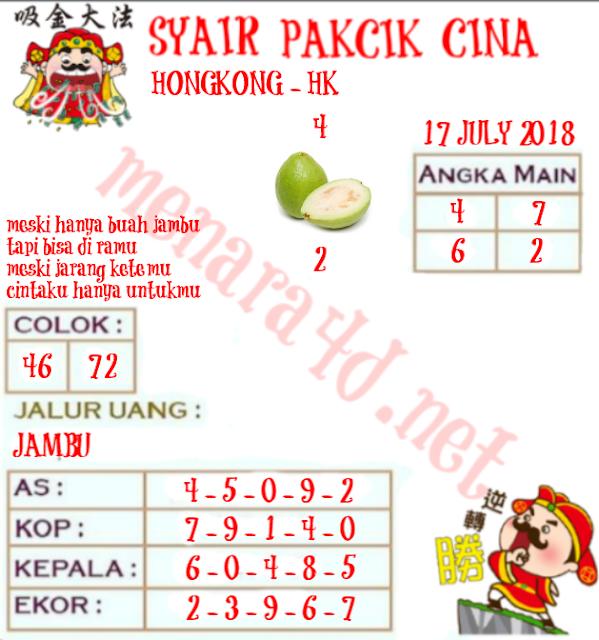 Kode Syair HK 17-07-2018