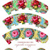 Shabby Chic: Free Printable Cupcake Toppers and Wrappers.