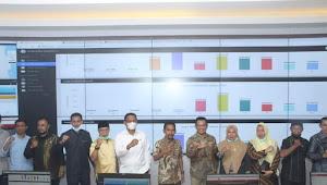 Walikota Bima Meninjau Persiapan Launching Commanf Center Pemkot Bima