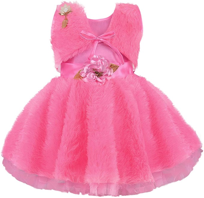 Wish Karo Baby Girls Frock Birthday Dress for Girls - Net - (fe2668)