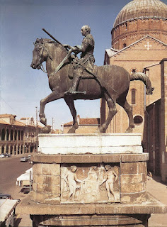 Donatello's statue of the condottiero Gattamelata outside St Anthony's Basilica