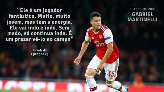 Gabriel Martinelli Arsenal Fredrik Ljungberg