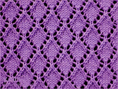 Openwork Diamonds - Pattern 1 | Knitting Stitch Patterns