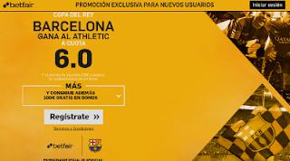 betfair supercuota 6 Barcelona gana Athletic Copa 5-1