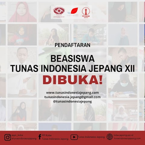 Pendaftaran Beasiswa Tunas Indonesia Jepang Angkatan XII [16 April - 31 Mei 2021]