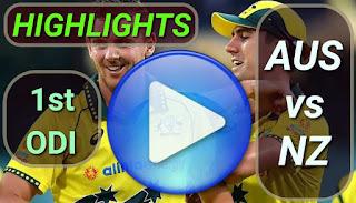 AUS vs NZ 1st ODI 2020