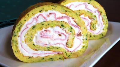 Rolada od tikvica, sira i šunke / Zucchini Roll with Cheese and Ham