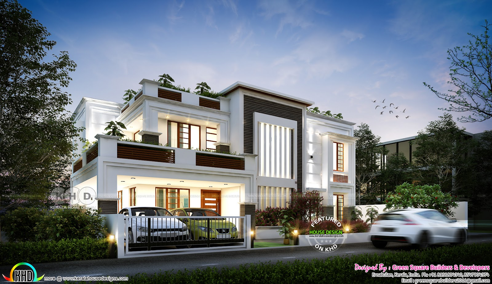 4 bhk 2583 house plan in contemporary style kerala home for 4 bhk home design