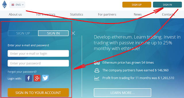 cara withdraw profit di Ethtrade