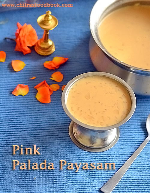 Pink Palada Payasam Recipe