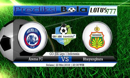 PREDIKSI SKORE AREMA VS BHAYANGKARA FC 22 MEI 2018