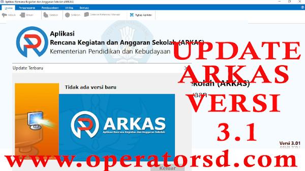 Update ARKAS Versi 3.1 Solusi Gagal Update ARKAS 3.1