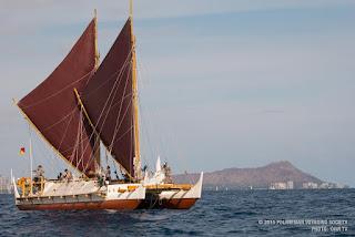 Hawaiian voyaging canoe Hokule'a