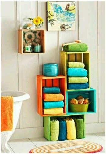 El minihogar for Estanteria bano toallas