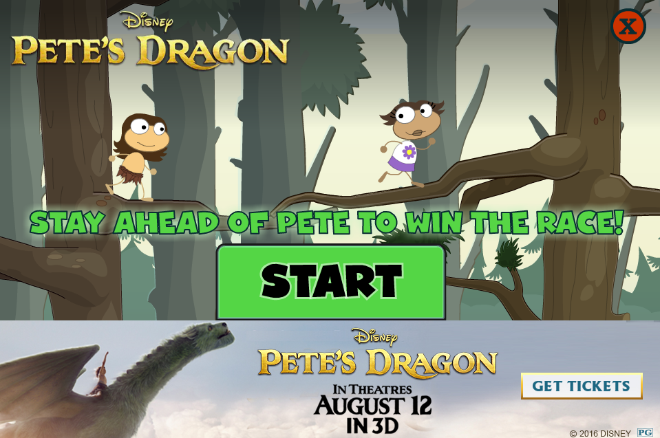 It is a graphic of Refreshing Pete's Dragon Games