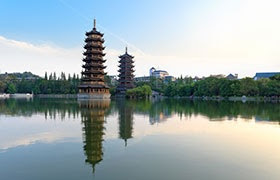 Sun Moon Pagoda - Salika Travel - China Group Series Feb-Mar 2018
