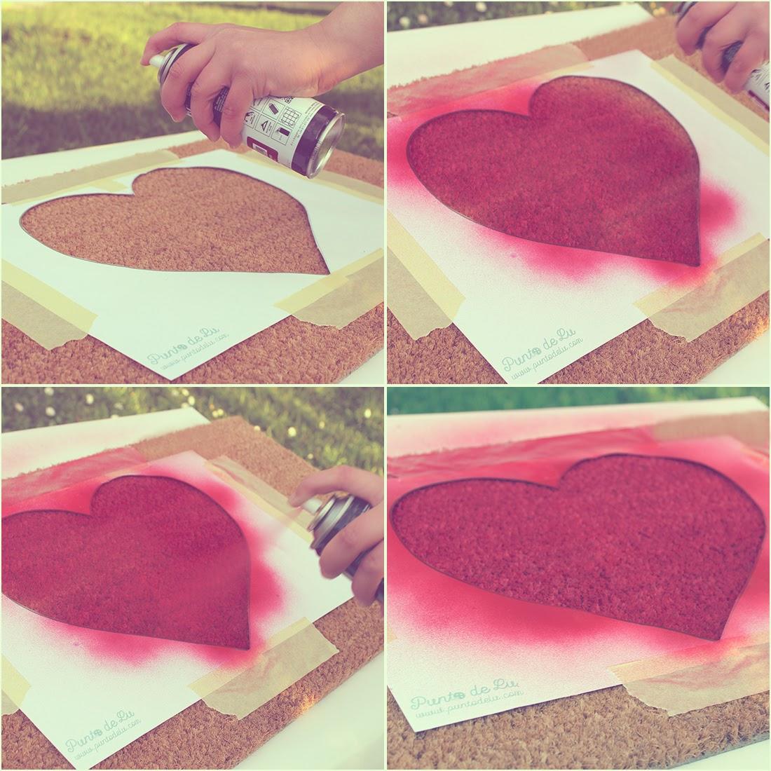 Felpudo corazón