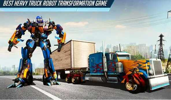Game Heavy Truck Robot Giant Truck Driver Simulator