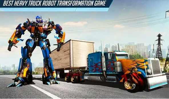 Game Heavy Truck Robot Giant Truck Driver Simulator