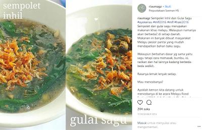 Top Kuliner Riau Paling Populer Sempolet ataupun Gulai Sagu Lemak
