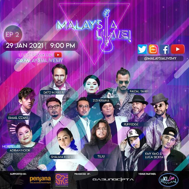 MALAYSIA LIVE! Siri Concert Atas Talian, Dato' Acis, Jennifer Thompson, Hael Husaini, Dato M Nasir, Malaysia Entertainment, Lifestyle