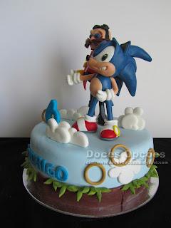 sega sonic birthday cake