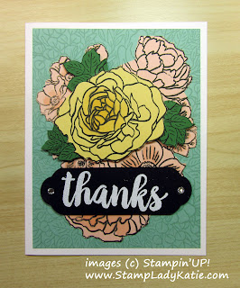 Technique for paper crafting: paper Piecing shown with Stampin'UP!'s Breathtaking Bouquet Background Stamp
