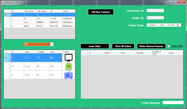 vb.net inventory system - manage orders