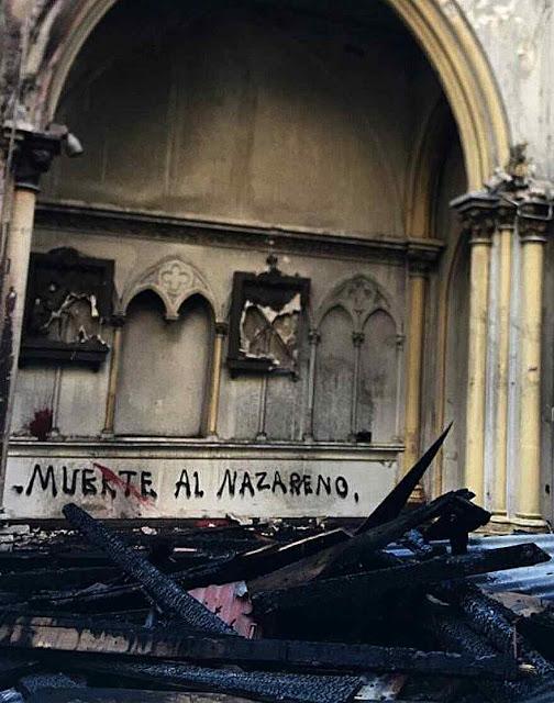 Chile: jovens picham igreja pedindo 'Morte ao Nazareno'